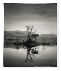 Loch Assynt Reflection Fleece Blanket