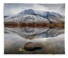 Loch Etive Reflection Fleece Blanket