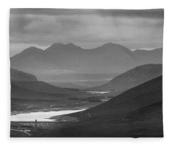 Loch Glascarnoch And An Teallach Fleece Blanket