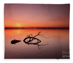 Loch Leven Sunset Fleece Blanket