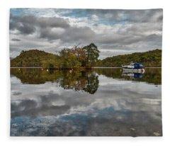 Loch Lomond At Aldochlay Fleece Blanket