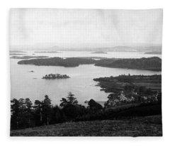 Loch Lomond Islands From Above Luss Fleece Blanket
