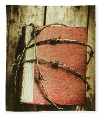 Locked Diary Of Secrets Fleece Blanket