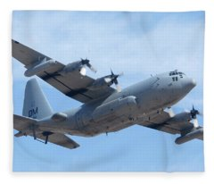 Lockheed Ec-130h Compass Call Hercules 73-1584 Davis-monthan Afb Arizona March 8 2011 Fleece Blanket