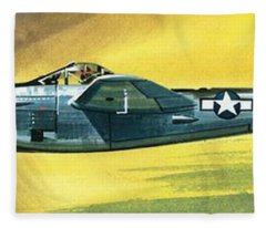 Lockheed P-38j Lightning Fleece Blanket