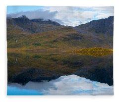 Lofoten Lake Fleece Blanket
