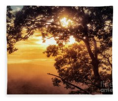 Loft Mountain Overlook Sunset Fleece Blanket