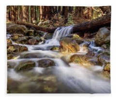 Log Falls On Limekiln Creek Fleece Blanket
