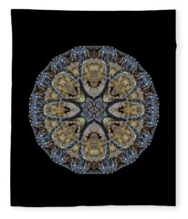 Log Priests Gathered Around Ghostly Face Fleece Blanket