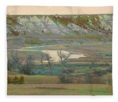 Logging Camp River Reverie Fleece Blanket