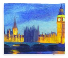 London 1 Fleece Blanket