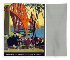 London And North Eastern Railway - Retro Travel Poster - Vintage Poster Fleece Blanket