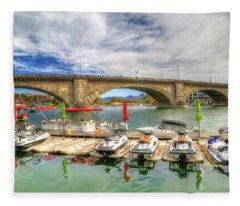 London Bridge View Fleece Blanket