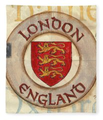 London Coat Of Arms Fleece Blanket