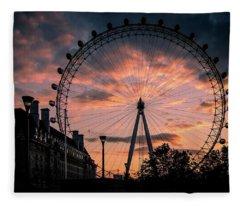 London Eye #1 Fleece Blanket