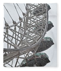 London Eye And Snow Fleece Blanket