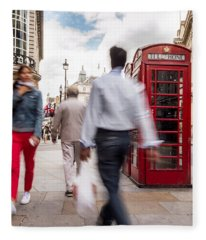 London In Motion Fleece Blanket