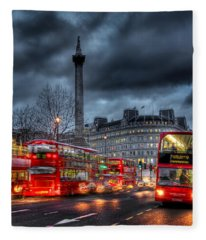 London Red Buses Fleece Blanket
