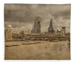 London, England - London Skyline East Fleece Blanket