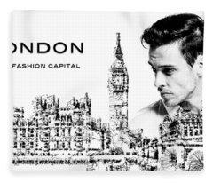 London The Fashion Capital Fleece Blanket