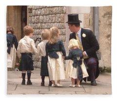 London Tower Wedding Fleece Blanket