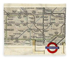 London Underground Fleece Blanket