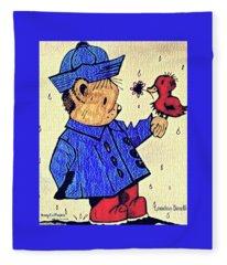 Londonbear And Bensonduck  Fleece Blanket