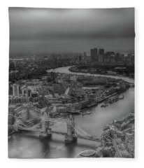 Fleece Blanket featuring the photograph London's Calling by Chris Cousins