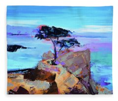 Lone Cypress Fleece Blanket