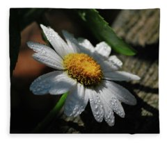 Lone Daisy Fleece Blanket