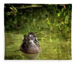 Lone Duckling Fleece Blanket