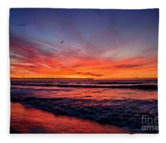 Lone Gull Fleece Blanket