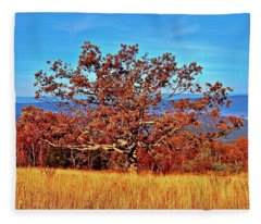 Lone Mountain Tree Fleece Blanket