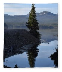 Lone Pine Reflection Chambers Lake Hwy 14 Co Fleece Blanket