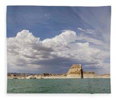 Lone Rock Landscape Fleece Blanket
