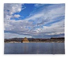 Lone Rock Vista Fleece Blanket
