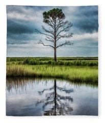 Lone Tree Reflected Fleece Blanket