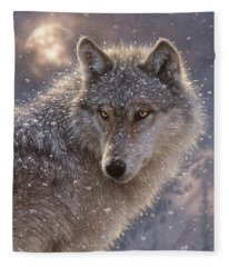 Lone Wolf Fleece Blanket