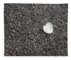 Lonely Dogwood Petal Fleece Blanket
