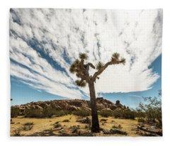 Lonely Joshua Tree Fleece Blanket