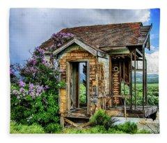 Lonely Lilacs Fleece Blanket