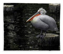 Lonely Pelican Fleece Blanket