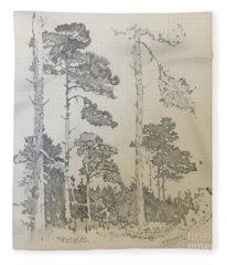 Lonely Pines Fleece Blanket