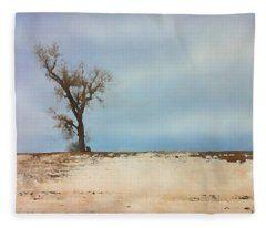 Lonely Sentinel  Fleece Blanket
