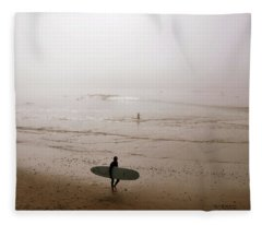 Lonely Surfer Fleece Blanket