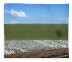 Lonely Tree Fleece Blanket