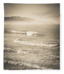Lonely Winter Waves Fleece Blanket