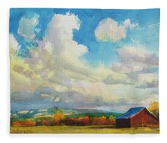 Lonesome Barn Fleece Blanket