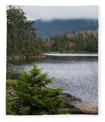 Lonesome Lake Fleece Blanket