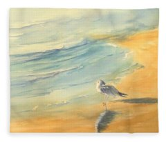 Long Beach Bird Fleece Blanket